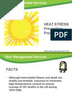 April 2012 Heat Stress