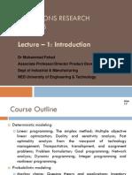 Lecture 1- Intro