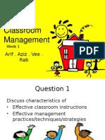 Classroom Management Week1