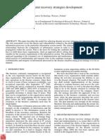 Risk Assessmnet in Deasister Strategic Plan Development