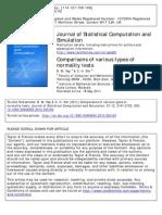 Jurnal Comparison Normality Test