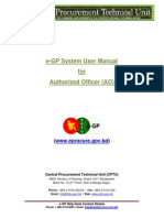 E-GP System User Manual - Authorized Officer User