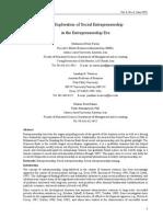 An Exploration of Social Entrepreneurship in Ertrep Era
