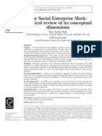 The Social Enterprise Mark a Critical Review of Its Conceptual Dimensions