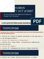 Ra 9372 Human Security Act of 2007 1