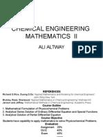 Chemical Engineering Mathematics