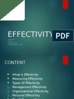 presentation on Effectivity