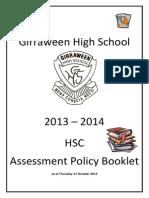 HSC Assessment Booklet