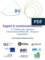 Appel a Communications PROLOG Metz