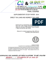 Amendments in CA Final Direct Tax for May 2015