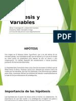 Hipótesis y Variables