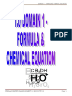 1 Chemical Equation