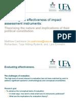 The politics of impact assessment