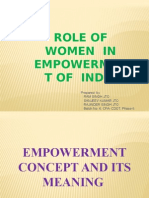 Role of Women in Empowerment of India