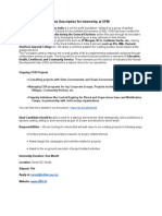 Job Description for Internship at CFBI