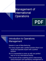Management of International Operations-Intro