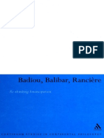 Nick Hewlett Badiou, Balibar, Ranciere_ Re-thinking Emancipation 2007