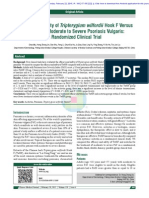 Efficacy and Safety of Tripterygium wilfordii Hook F Versus Acitretin in Moderate to Severe Psoriasis Vulgaris