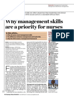 Why Management Skills Are a Priority for Nurses 050313