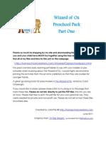 Wizard of Oz Preschool Pack Part 1