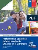 Subsidios Habitacionales Para Chilenos en El Extranjero1(1)