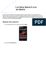 Como Resetear Un Sony Xperia z a Su Configuracion de Fabrica 11874 My0aje