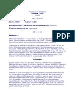 Sps. Dela Cruz vs. Planters Products, Inc.