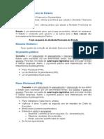 Resumo de Administração Financeira e Orçamentária