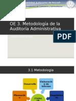 Metodología de la Auditoría Administrativa