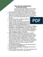 Global Peace Committee - Basic Principles