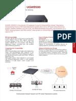 Huawei Videoconferencing Universal Media Gateway UGW9500 Datasheet