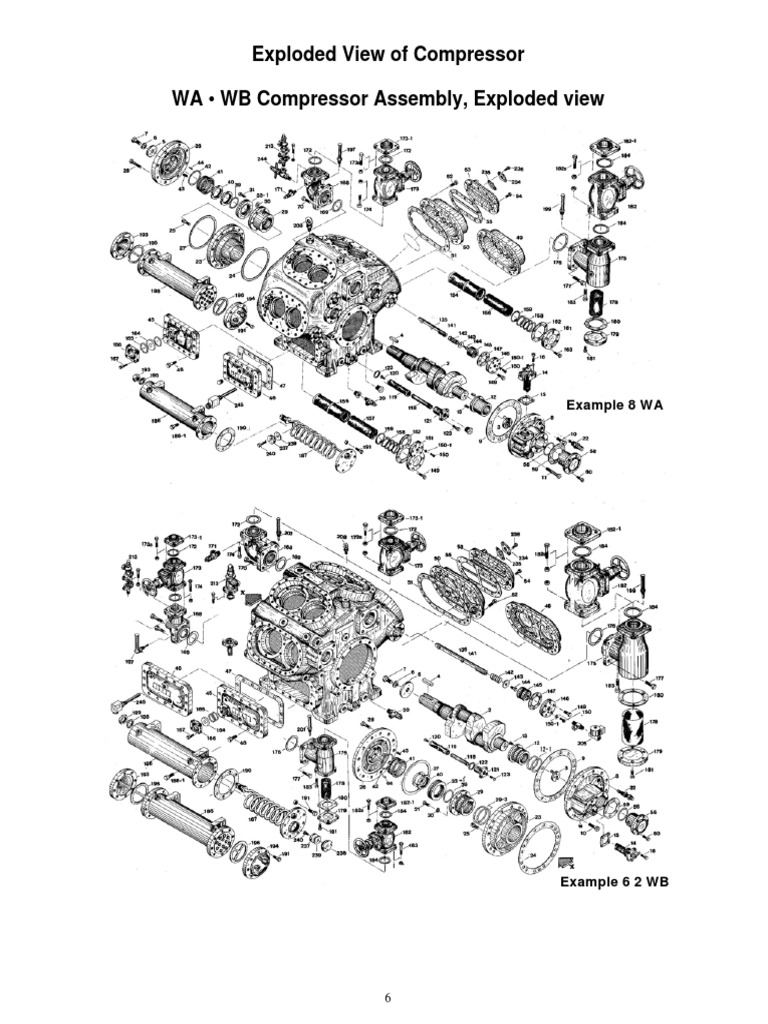Exploded View of Compressor WA • WB Compressor Assembly