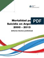 Mortalidad Por Suicidio en Argentina 2013