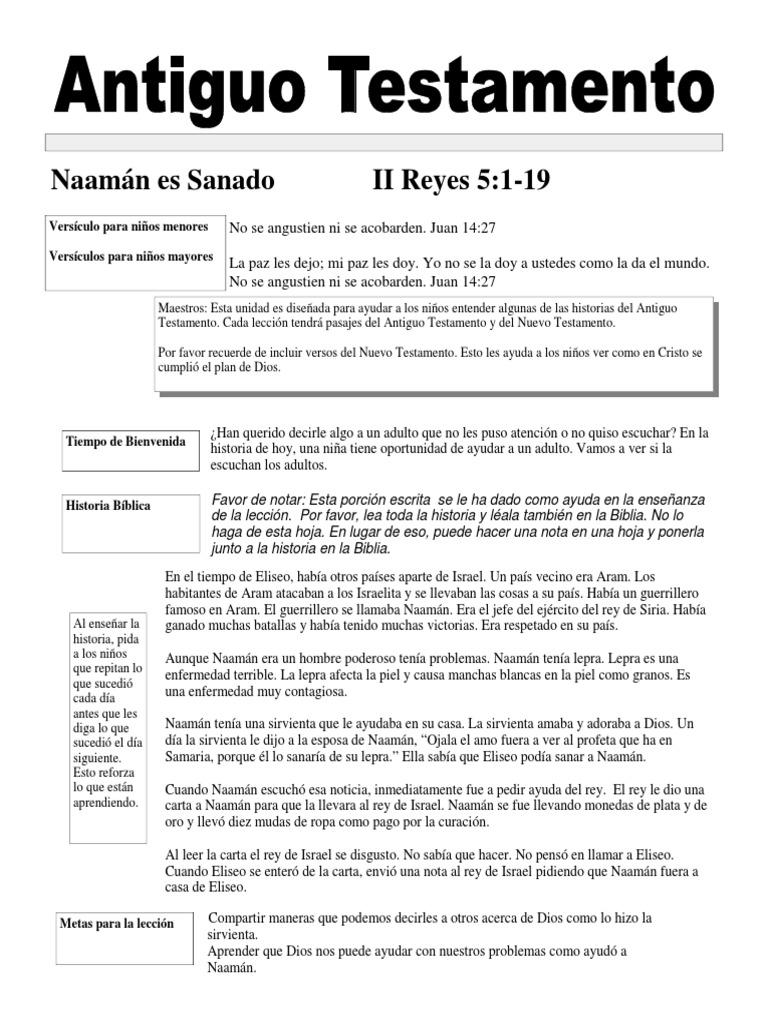 Excelente Colorear Naamán El Leproso Componente - Ideas Para ...