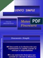 Descuento Simple Villarreal