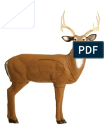 Target 9 - Whitetail Buck Paper Targets (A3)