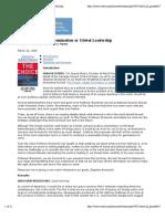 Zb.brezezinski-The Choice Global Domination or Global Leadership