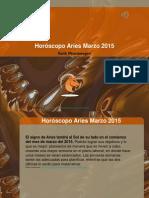 Horóscopo Aries Marzo 2015