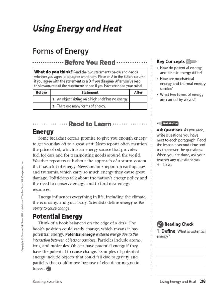 Forms Of Energy Potential Energy Electromagnetic Radiation