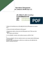 Operations Management-Barilla SpA _A_ 2013T