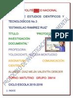 Protocolo de Investigación  Documental