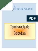 Terminología soldadura
