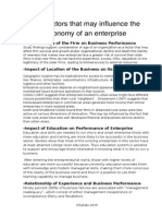 "Essay""Factors that may influence the economy of an enterprise """