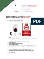 Lista de Precio Sistemas Alarmas Bt Security