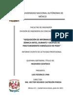 Adquisición de Información Micro-sísmica