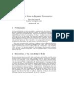 A Beginner's Notes on Bayesian Econometrics (Art)