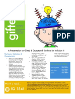 gifted students handout