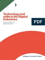 Evidence Report 73 Technology Skills Digital Industries