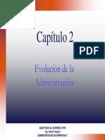 Cap-2(2007) Evolucion de La Administracion