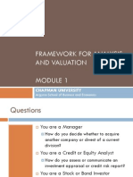 Mod 1_Framework for Analysis & Valuation